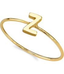 2028 14k gold dipped initial ring