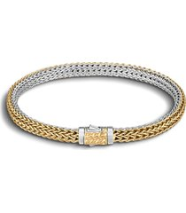 women's john hardy 'classic chain' extra small reversible bracelet