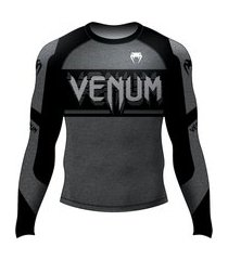 rash guard venum bomber dark preto .