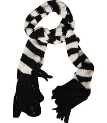 saint laurent striped knit scarf
