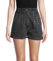 iro women's barra faded denim shorts - used black - size 36 (4)