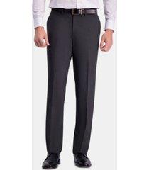 jm haggar men's straight-fit 4-way stretch flat-front dress pants