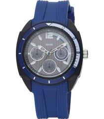 toronto - orologio cinturino blu policarbonato, quadrante e ghiera e blu per uomo