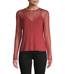 roundneck long-sleeve top