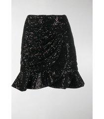 self-portrait sequinned mini skirt