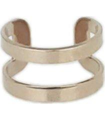 brinco piercing fake papill㴠joias voltas vazadas, em ouro ros㩠18k - ros㪠- feminino - dafiti