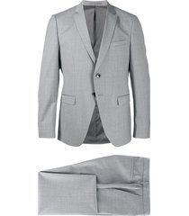 boss two-piece formal suit - grey