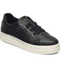 avona low lace shoes låga sneakers svart gant