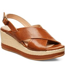 kastro_gcr sandalette med klack espadrilles brun unisa
