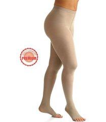 meia calça sigvaris at 862 20-30 mmhg sem ponteira select comfort premium natural média compressão