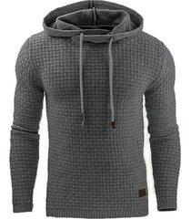 hombre sudadera con capucha para hombre ropa de chándal de algodón-gris
