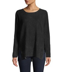 reversible cashmere tunic top