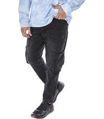 jeans ii doble cargo i negro corona