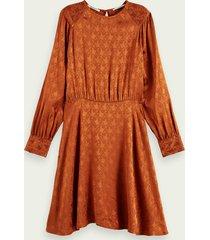 scotch & soda midi-jurk met asymmetrische peplumzoom