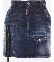 dsquared2 dsq2 dalama cotton skirt