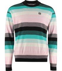 loewe striped crew-neck sweater