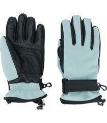 moncler grenoble logo patch touch strap gloves - blue