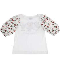 monnalisa baloon sleeves cotton jersey t-shirt