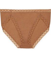 natori intimates bliss french cut brief panty, women's, 100% cotton, size m