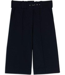 belted jersey culottes