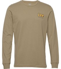 ls chest logo tee t-shirts long-sleeved grön lee jeans