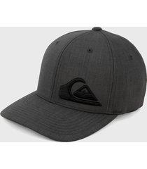 gorra gris-negro quiksilver final flexfit