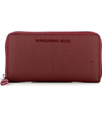 mandarina duck womens red wallet