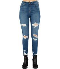 rewash juniors' stevie ripped high rise skinny jeans