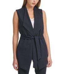 calvin klein x-fit belted sleeveless jacket