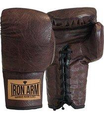 luva boxe muay thai classic couro iron arm