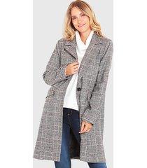 abrigo wados escoses negro - calce regular