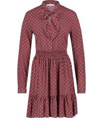 jurk met print elia  rood