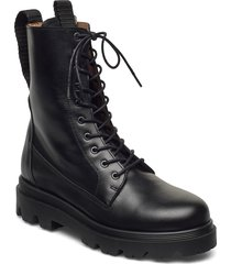 lovi black leather shoes boots ankle boots ankle boot - flat svart flattered