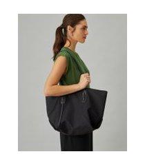 amaro feminino shopping bag de nylon, preto