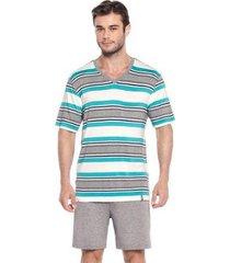 pijama masculino curto em viscolycra tombini homem - j121 - masculino