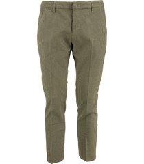 dondup alfredo - cotton slim-fit trousers