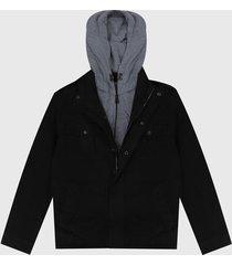 chaqueta negro-gris levis