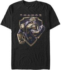 marvel men's avengers endgame thanos strong shield short sleeve t-shirt