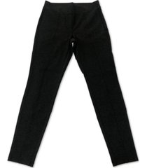 style & co plus size seam-front ponte-knit leggings, created for macy's