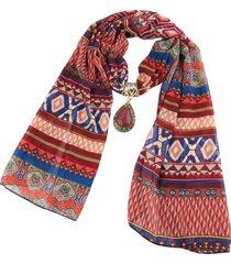 collana etnica sciarpa multicolore collana pendente goccia per accessori donna gioielli