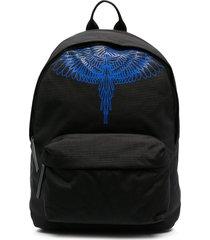 marcelo burlon county of milan pictorial wings backpack - black