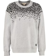 michael michael kors cotton crew-neck sweatshirt