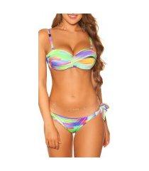sexy bikini print meerkleurig