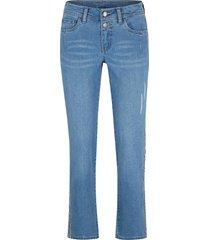 jeans elasticizzati ultra morbidi con bande laterali straight (blu) - john baner jeanswear