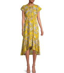 ali floral high-low dress