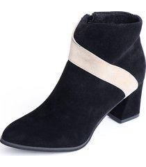 cremallera lateral con costuras negras diseño tobillo botas