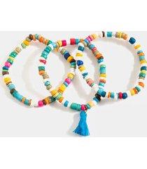jessie beaded tassel bracelet set - multi