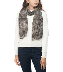 charter club cashmere snake-embossed muffler scarf, created for macy's
