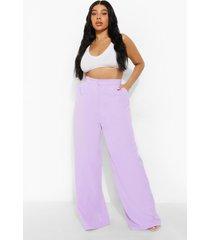 plus getailleerde premium wide leg broek, lilac