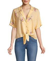 marley knotted floral crop top